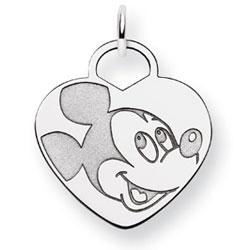 14K White Gold Disney Mickey Heart Charm. Price: $237.26