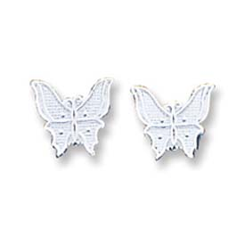 Sterling Silver  Butterfly Mini Earrings. Price: $13.95