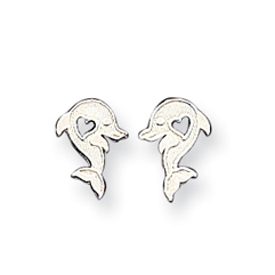 Sterling Silver  Dolphin Mini Earrings. Price: $11.61