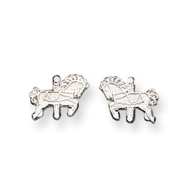 Sterling Silver  Carousel Horse  Mini Earrings. Price: $18.57