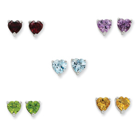 Sterling Silver Gemstone Post Earring Set. Price: $125.40