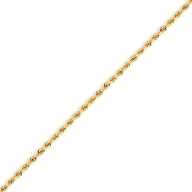 14K Gold 1.75mm Handmade Regular Rope Anklet. Price: $162.40