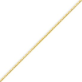 14K Gold 1.3mm Solid Diamond Cut Cable Anklet. Price: $92.66
