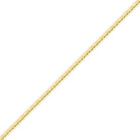 14K Gold 1.65mm Solid Diamond Cut Cable Anklet. Price: $135.46
