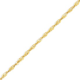 14K Gold 2.2mm Twisted Pendant Bracelet. Price: $146.16