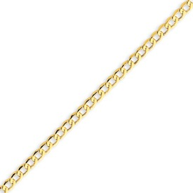 14K Gold 3.35mm Semi-Solid Curb Link Chain. Price: $252.62