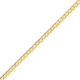 14K Gold 4.3mm Semi-Solid Curb Link Chain. Price: $389.00