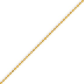 14K Gold 1.2mm Diamond Cut Baby Ball Chain. Price: $173.50