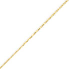 14K Gold 1.1mm Solid Polished Spiga Bracelet. Price: $50.32