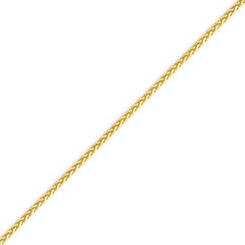 14K Gold 1.9mm Round Diamond Cut Wheat Chain. Price: $381.36