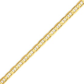 14K Gold  4.5mm Concave Anchor Bracelet. Price: $342.56