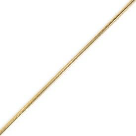 14K Gold 1.4mm Round Snake Bracelet. Price: $163.02