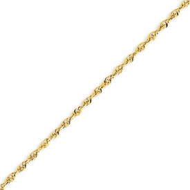 14K Gold 2.0mm Diamond cut Extra-Lite Rope Chain. Price: $243.68