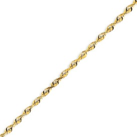 14K Gold 2.82mm Diamond Cut Extra-Lite Rope Chain. Price: $452.91