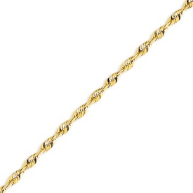 14K Gold 3.47mm Diamond Cut  Extra-Lite Rope Chain. Price: $734.04
