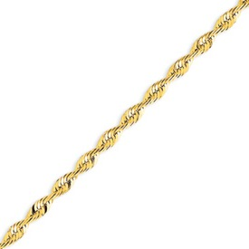 14K Gold 4.16mm Diamond Cut  Extra-Lite Rope Chain. Price: $988.94