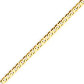 14K Gold 2.4mm Beveled Curb Bracelet. Price: $134.52