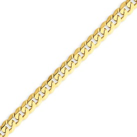 14K Gold  5.75mm Beveled Curb Bracelet. Price: $462.66
