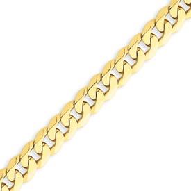 14K Gold 7.25mm Beveled Curb Bracelet. Price: $691.20