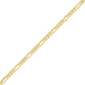 14K Gold 2.75mm Flat Figaro Bracelet. Price: $105.20