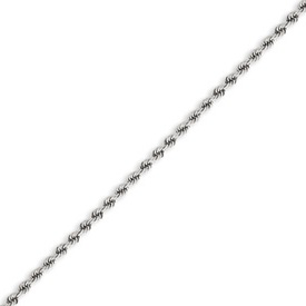 14K White Gold 2.25mm Handmade Regular Bracelet. Price: $248.94