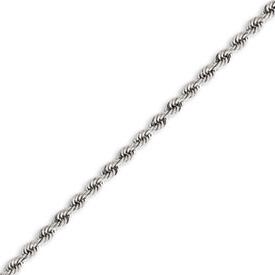 14K White Gold 4.0mm Handmade Regular Chain. Price: $2407.27