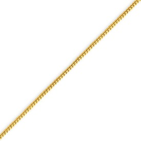 14K Gold 0.9mm Solid Polished Franco Bracelet. Price: $82.84