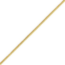 14K Gold 1.0mm Franco Bracelet. Price: $97.40