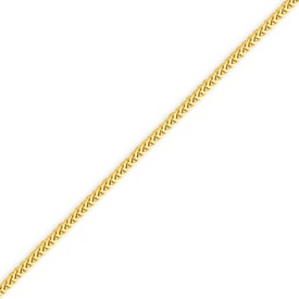 14K Gold 1.3mm Franco Bracelet. Price: $110.60