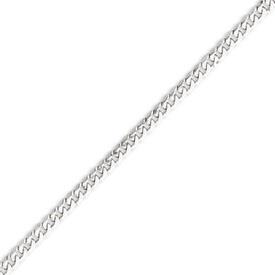 14K White Gold 3.9mm Flat Curb Bracelet. Price: $348.44