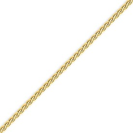 14K Gold  2.5mm Flat Wheat Bracelet. Price: $172.30