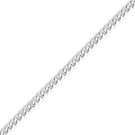 14K White Gold 5.2mm Flat Curb Chain. Price: $1322.80