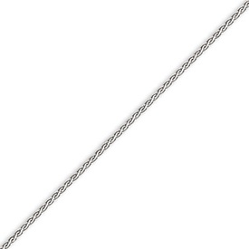 14K White Gold 1.8mm Flat Wheat Chain. Price: $324.56
