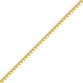 14K Gold 2.25mm Lite Box Bracelet. Price: $274.50