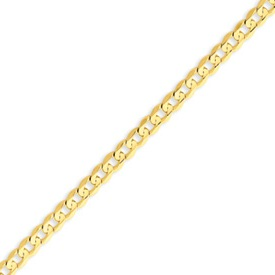 14K Gold 4.5mm Open Concave Curb Bracelet. Price: $374.42