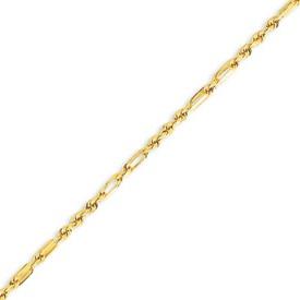 14K Yellow Gold 2.5mm Milano Rope Bracelet. Price: $176.54