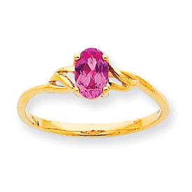 14K Gold October Pink Tourmaline Birthstone Ring. Price: $159.70