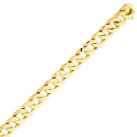 14K Gold Polished Fancy Curb Link Bracelet. Price: $2162.26