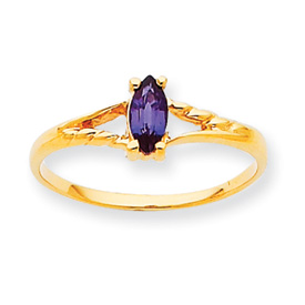 14K Gold June Rhodolite Garnet Birthstone Ring. Price: $104.32