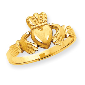 14K Gold Diamond Cut Claddagh Ring. Price: $187.90