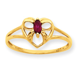 14K Gold Garnet January Birthstone Ring. Price: $132.58