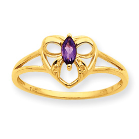 14K Gold Amethyst February Birthstone Ring. Price: $128.66