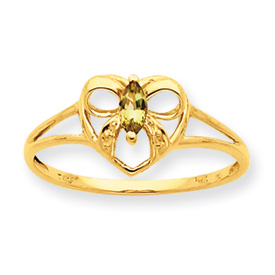 14K Gold Peridot August Birthstone Ring. Price: $128.66