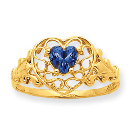 14K Gold Blue Topaz December Birthstone Ring. Price: $198.44