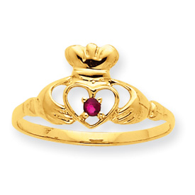 14K Gold Garnet January Birthstone Ring. Price: $130.44