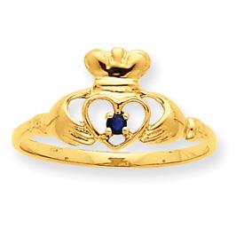 14K Gold Sapphire September Birthstone Ring. Price: $130.22