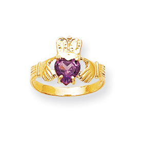 14K Gold June Birthstone Claddagh Ring. Price: $222.26