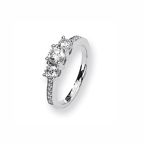 Karat Platinum .62ct tw Holds .40ct Round Center Semi-Mount Ring. Price: $1236.65