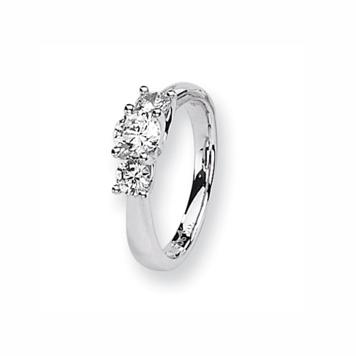 Karat Platinum .50ctw holds .50ct Round Center Semi-Mount Ring. Price: $1308.33