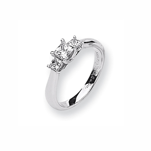 Karat Platinum .50ctw holds .50ct Princess Center Semi-Mount Ring. Price: $1461.72